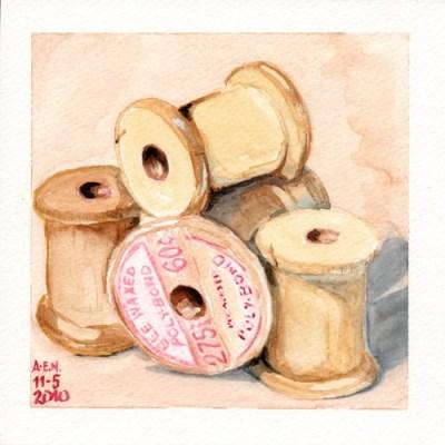 AQUARELA - Wooden Spools I - Amy Elise Neer